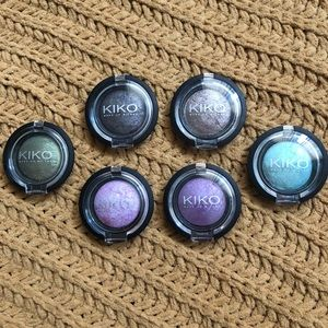 6 Kiko Eyeshadow/Highlight Baked Color Spheres